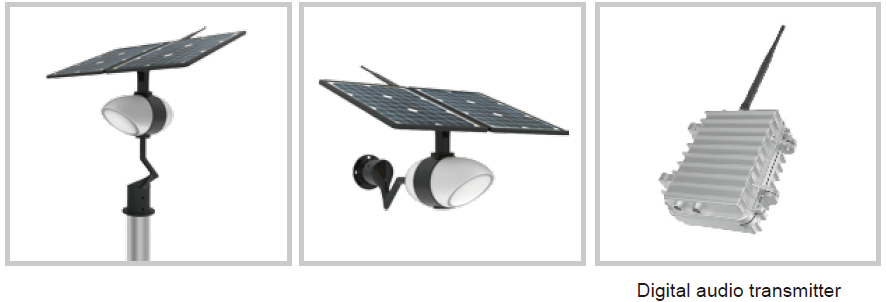 Road Smart-Intelligent Integrated Solar Garden Light With Music Play Function