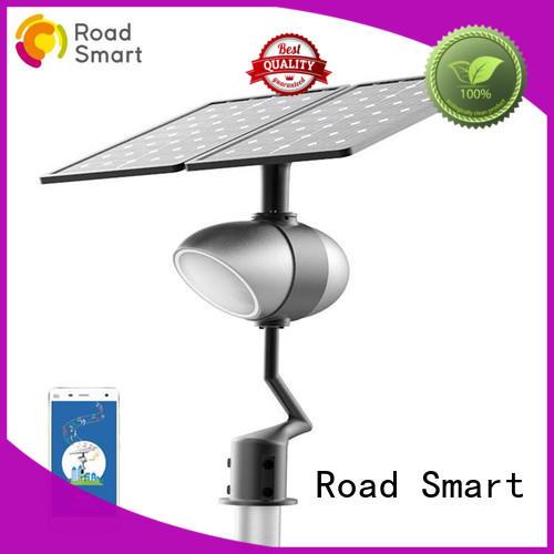 Road Smart app control backyard solar lights with light sensor for park