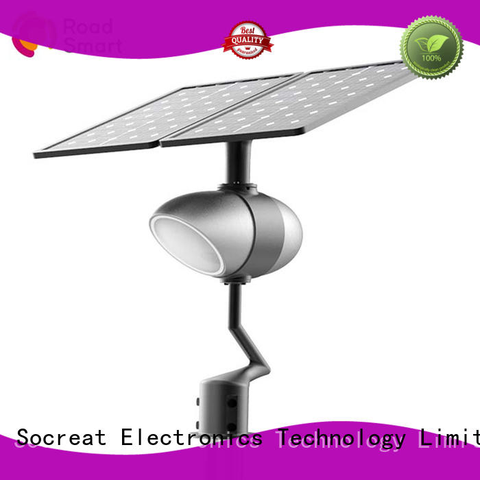 Road Smart efficient solar powered street lamp for parking lots