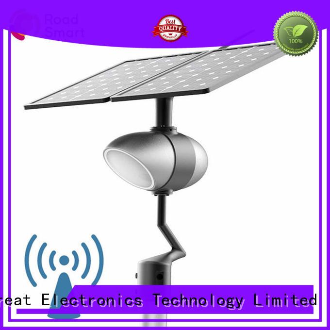 Road Smart solar panel garden lights supplier for school