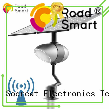 smart solar powered street lights residential with bluetooth speaker for park