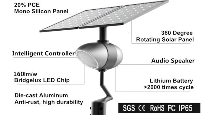 product-Outdoor Light Garden Park Street Solar Light with Broadcast Music Play Function-Road Smart-i