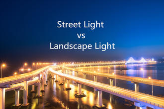 What's the difference between street light and landscape light