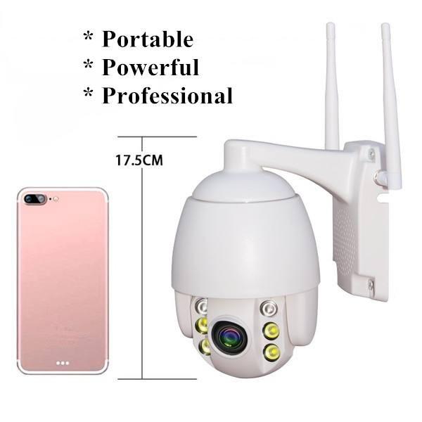 PTZ Dome Solar Camera 4G WiFi Wireless Security Solar IP Camera