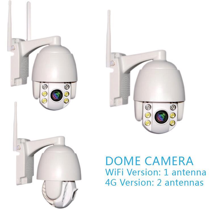 product-PTZ Dome Solar Camera 4G WiFi Wireless Security Solar IP Camera-Road Smart-img
