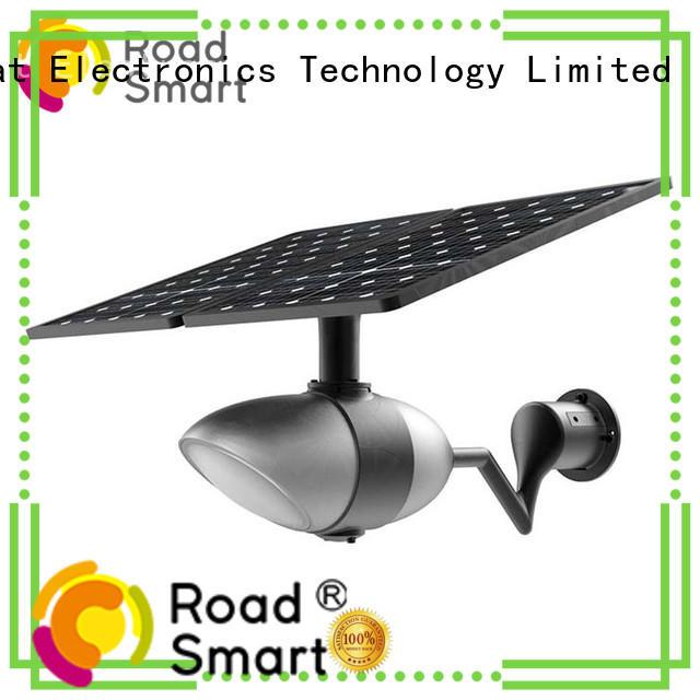 Road Smart latest solar panel garden lights with bluetooth speaker for hotel