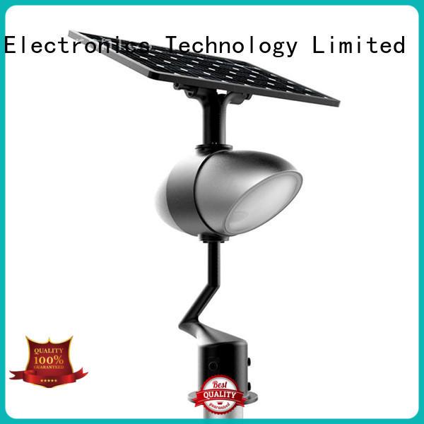 Road Smart app control solar garden lamps online for school