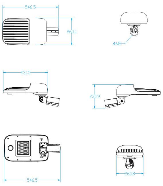 Road Smart-Solar Street Lighting System, High Quality High Lumen Angle Adjustable-4