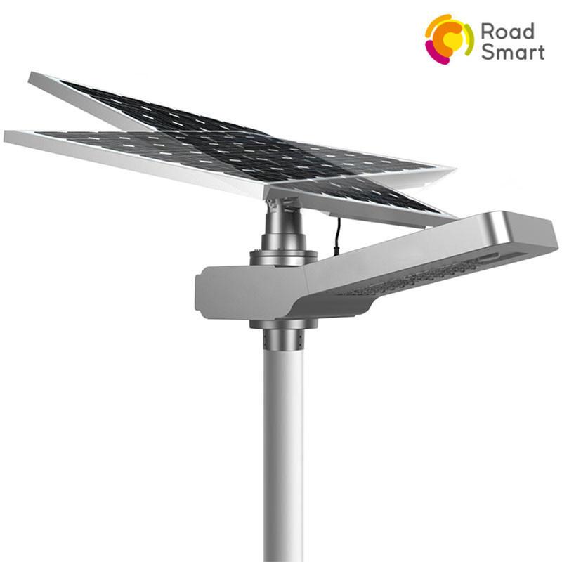 210lm/w Bridgelux Chip High Lumen Solar Power Led Street Light for Outdoor Parking Lot