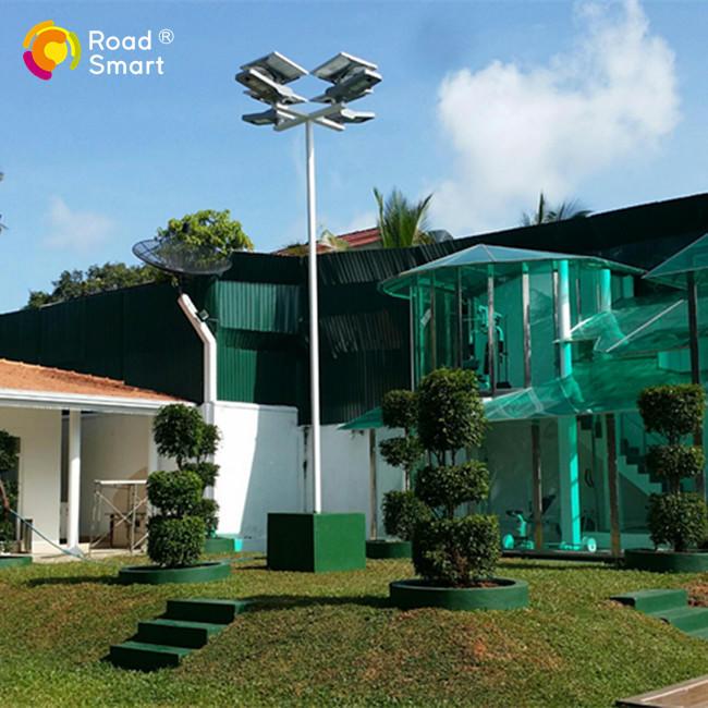 CE RoHS FCC Certificated 180lm/w Solar Sensor Street Light with Adjustable Solar Panel
