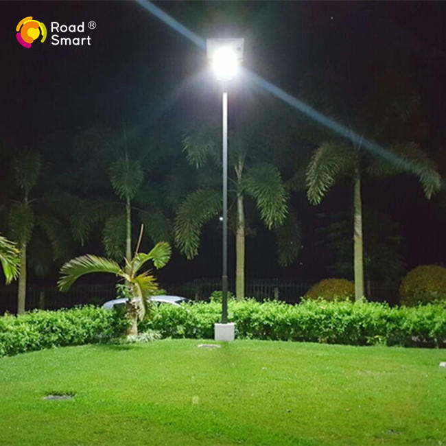 CE RoHS FCC Certificated 180lm/w Solar Sensor Street Light with Adjustable Solar Panel