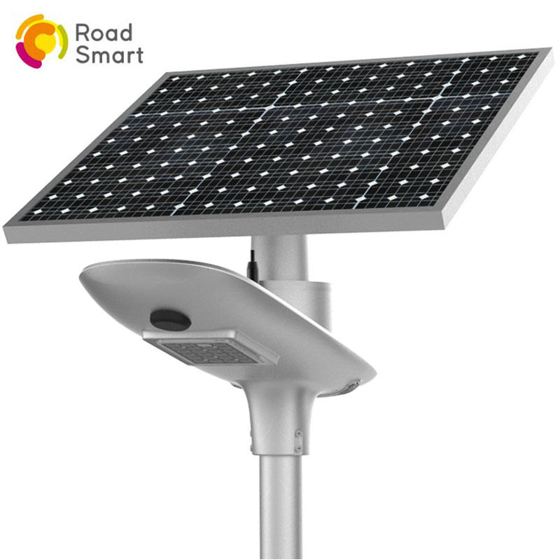 motion sensor led solar street wall light with rotating solar panel