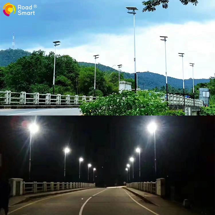 motion sensor led solar street wall light with rotating solar panel