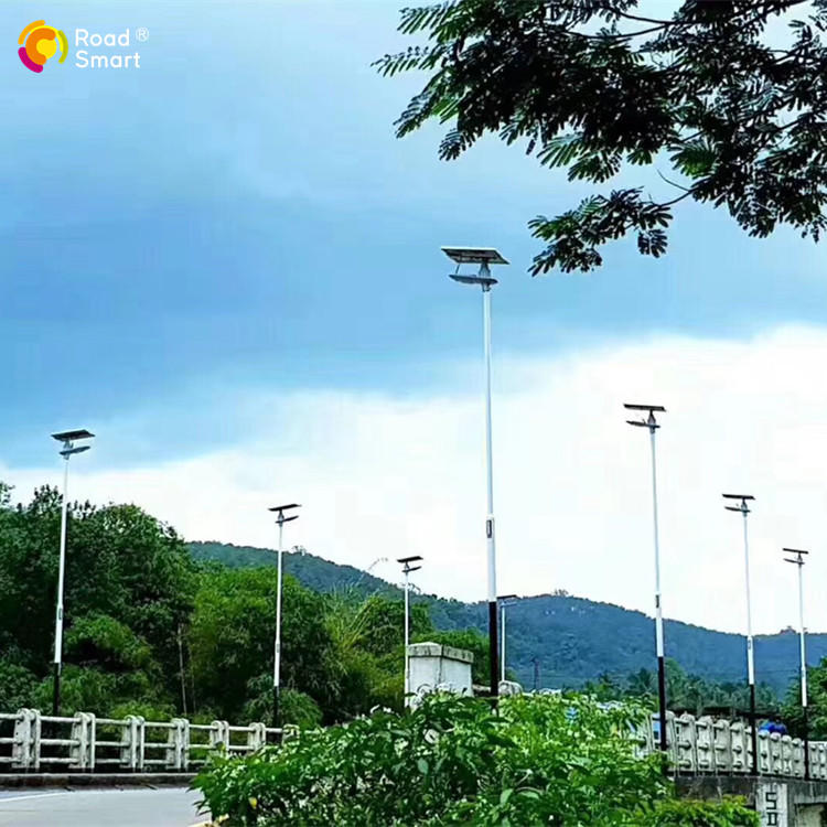 180lm/w Road Smart solar street lamp led street lights with motion sensor