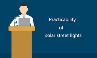 Practicability of solar street lights