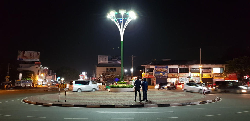 Solar street led light actual case for traffic circle