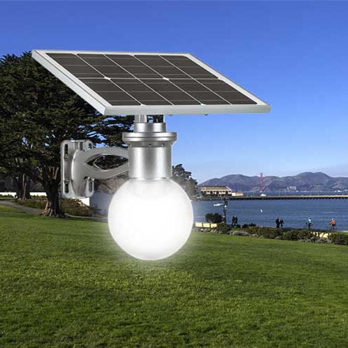 8W 12W garden solar led outdoor street light with motion sensor