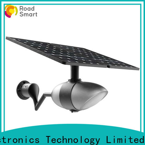 Road Smart solar street lights for garden with bluetooth speaker for parking lots
