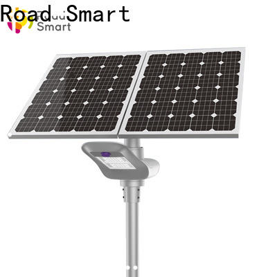 Road Smart solar street light project with motion sensor for park