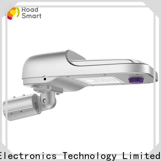 Road Smart solar panel lamp performance for hotel
