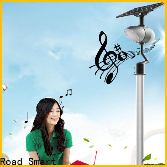 Road Smart solar powered outside lights with bluetooth speaker for pathway