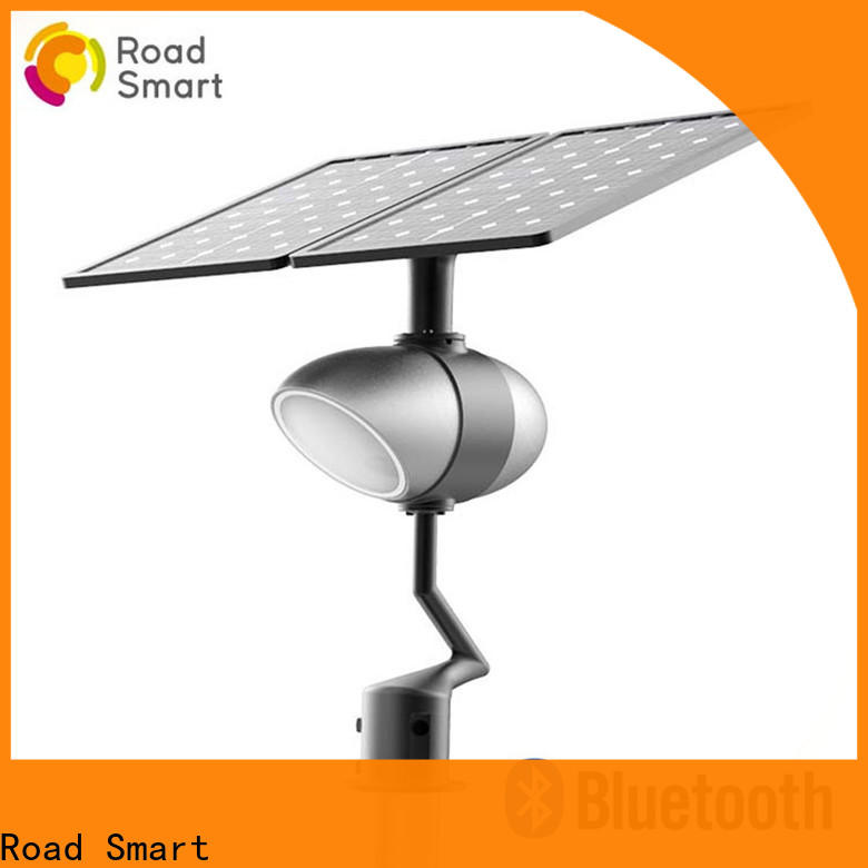 Road Smart integrated solar powered outside lights company for walkway
