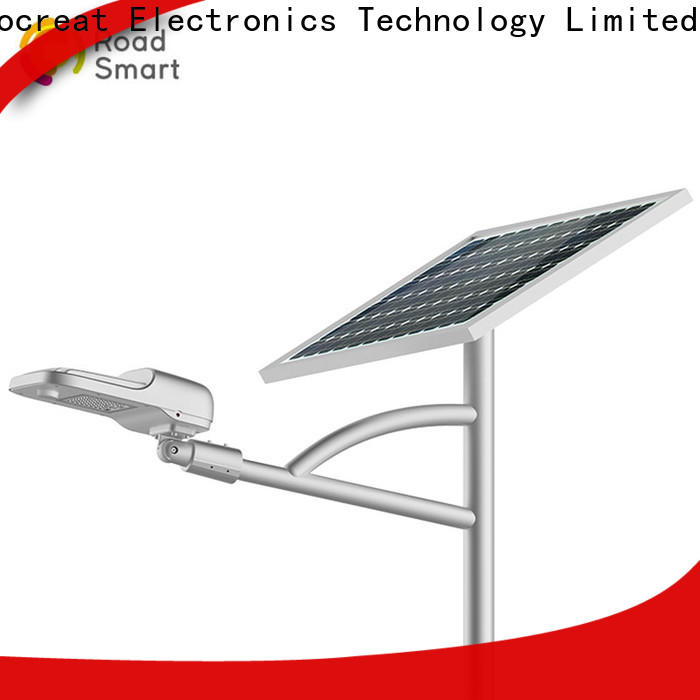 Road Smart solar panel lamp with inbuilt lithium batteries for village