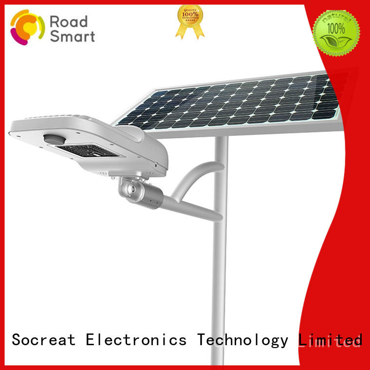 Road Smart split outdoor solar light with remote for parking lots