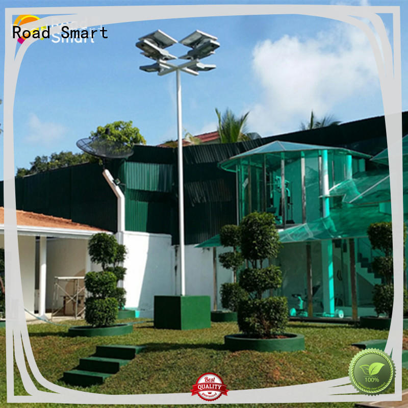 Road Smart solar garden lamps with adjustable panel for park
