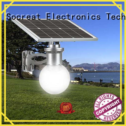 Road Smart integrated solar powered outside lights for park