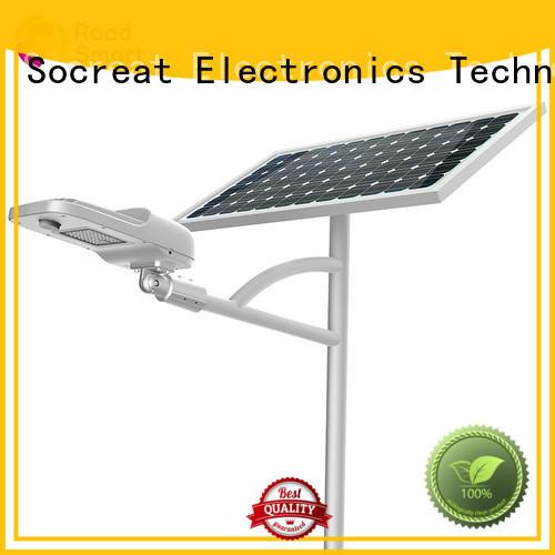 Road Smart solar street lighting system manufacturer for factory