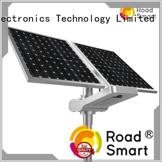 Road Smart solar street light project supply for school