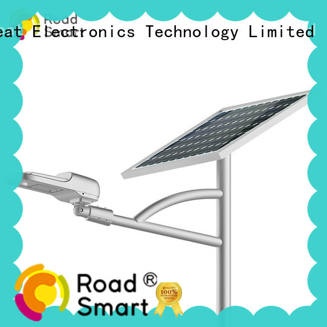 Road Smart bright solar panel lamp with motion sensor for village