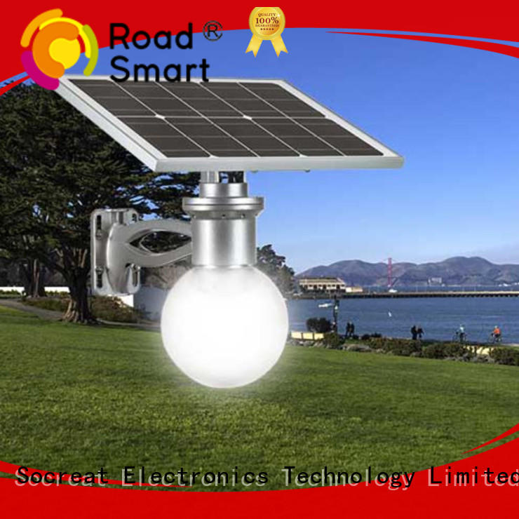 Road Smart Solar Park Light with adjustable panel for hotel