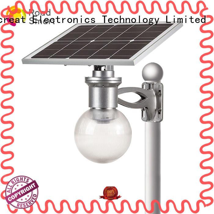 Road Smart solar garden lamps supplier for villa