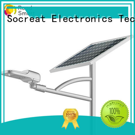 Road Smart led solar pole lights manufacturer for driveway