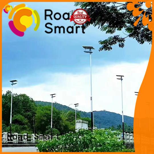 Road Smart solar panel lamp with inbuilt lithium batteries for village