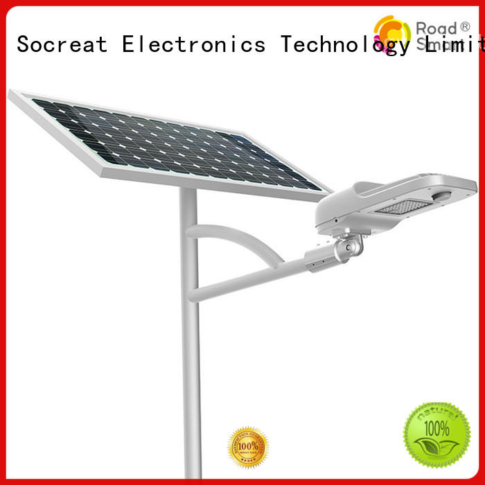 Road Smart top solar street lighting system split for driveway