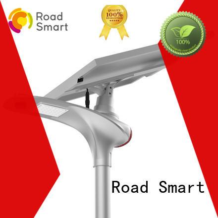 design solar led street light with lithium battery online for park Road Smart