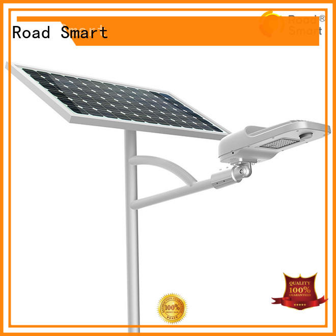 Road Smart solar pole lights supply for factory